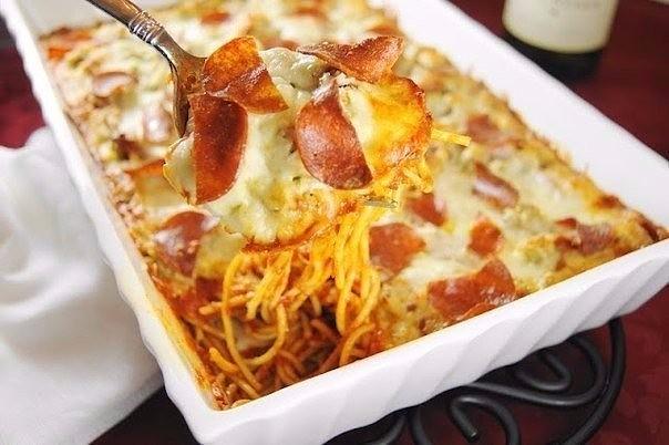 1-17 Запеченная пицца-спагетти