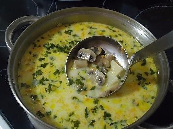 1-7 Сырный суп с грибами