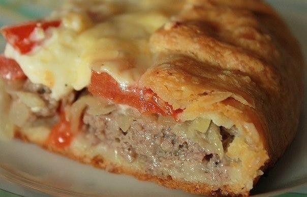 2-22 Открытый мясной пирог с картофельным тестом