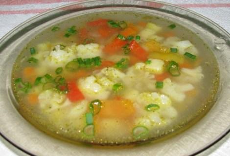6-12 Овощной суп с цветной и белокочанной капустой