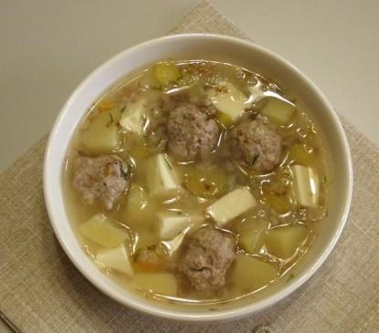 1-14 Сырный суп с фрикадельками