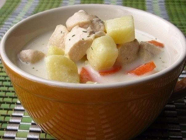 1-45 Молочный суп  с овощами