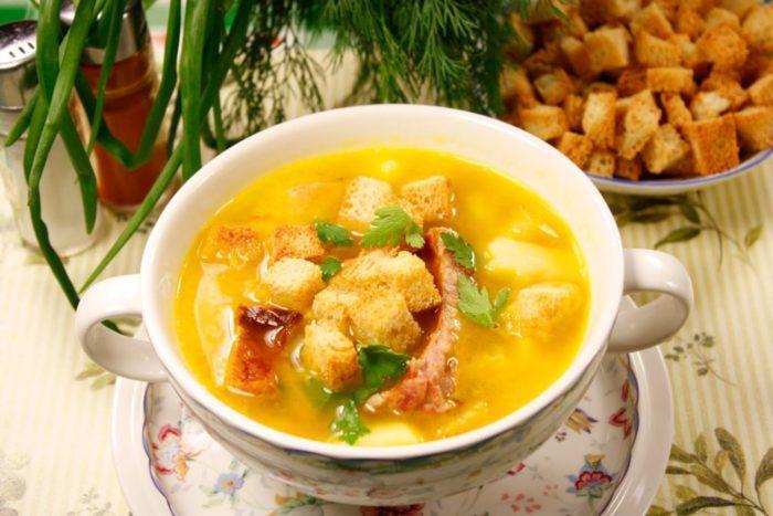 1-69 Гороховый суп с копченой курицей