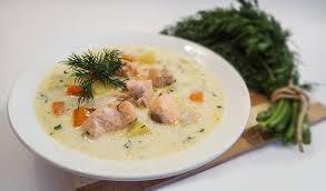 1-98 Сливочный суп с лососем и картофелем