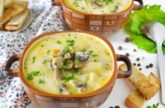 1-121 Сырно-грибной суп