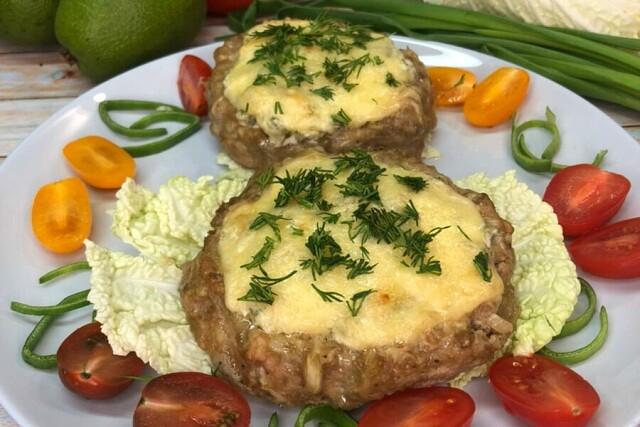 1-51 «Мясные гнёзда» с овощами и сыром