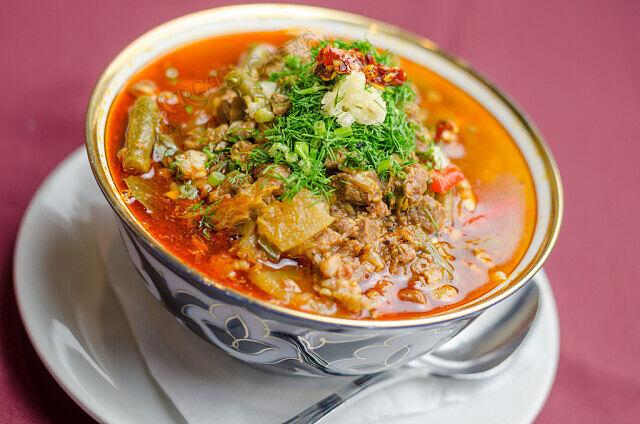 1-2 Лагман- узбекский густой суп