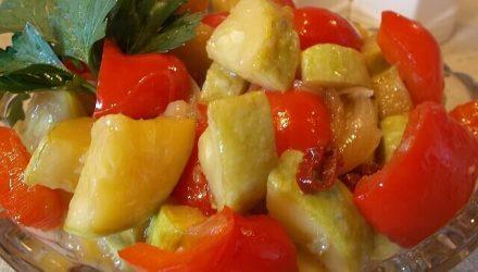Кисло-сладкая хрустящая закусочка из кабачка