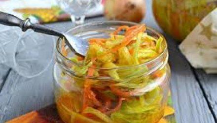 Острый салат из кабачков с корейской морковью