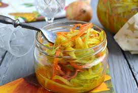1-89 Острый салат из кабачков с корейской морковью