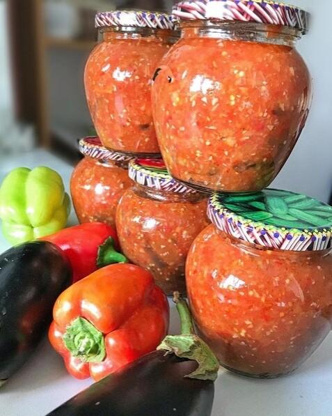 1 Cалат из кабачков и баклажанов