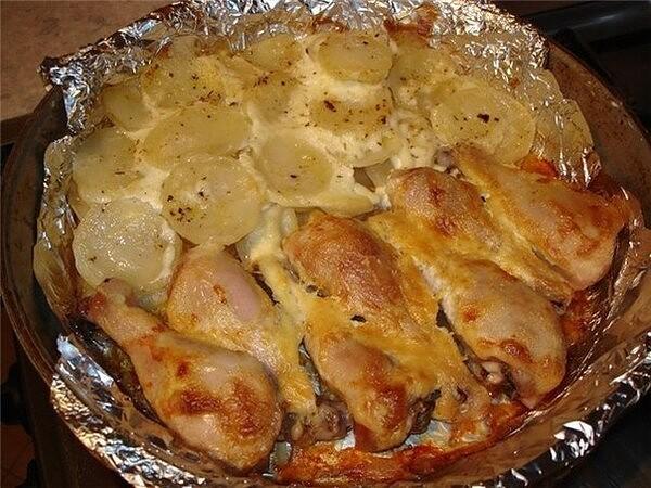 1-7 Куриные ножки с картофелем