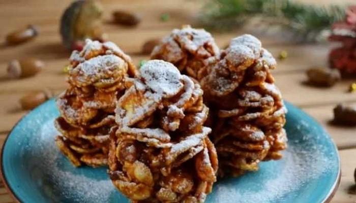 FK6-cRXoWGU «Елочные шишки» — Оригинальный и вкусный десерт на Новый год