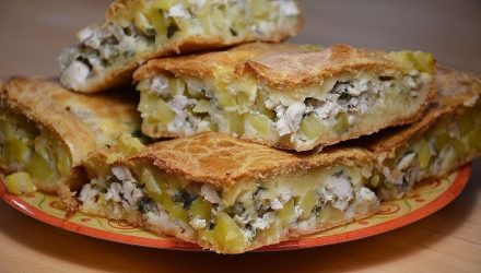 Пирог на кефире с курицей. Пойду опять за кефиром…очень удачный рецепт!