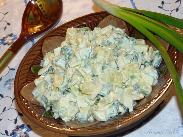 """i-2021-01-23T221726.867 Салат """" Домашний"""" с картофелем и зелёным луком."""