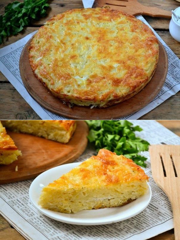 i-10 Запеканка из тертого картофеля с сыром и чесноком.